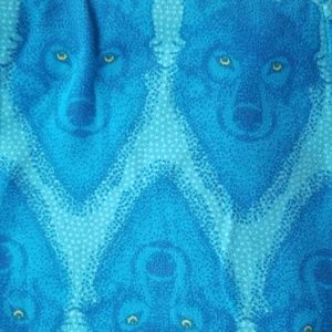 Blue vintage wolf leggings